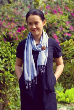 navy shift dress blue scarf by 14 shades of grey