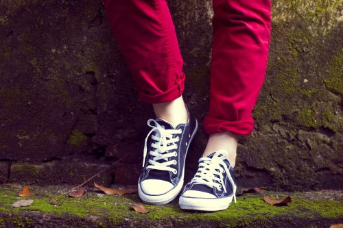 red pants black converse by 14 shades of grey