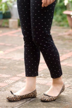 polka dot pants leopard printed flats by 14 shades of grey